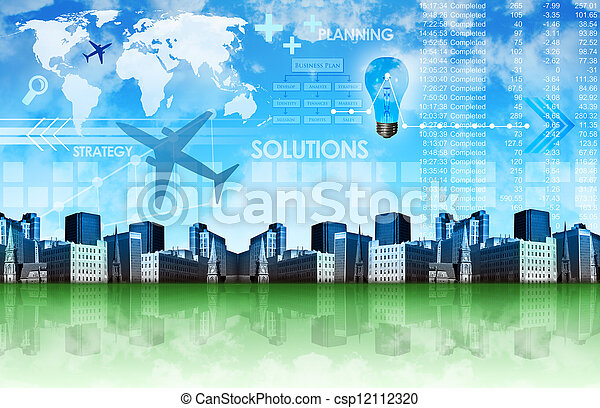Abstract Business Background with City - csp12112320
