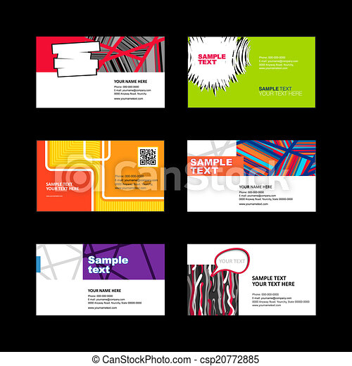 Abstract business card designs vector search clip art abstract business card designs csp20772885 reheart Image collections