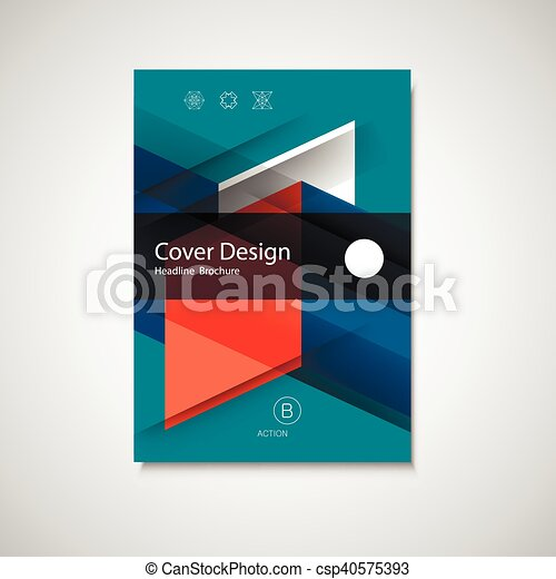 abstract business flyer design vector template in a4 size annual report or book cover simple style front page brochure