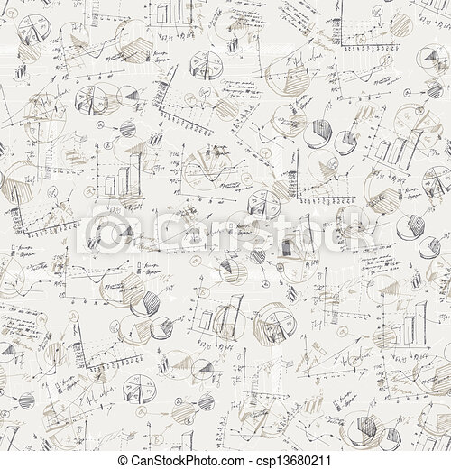 Abstract business graphs background. Vector, EPS10 - csp13680211