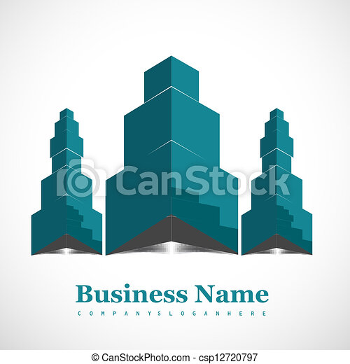 abstract business success architecture icon Vector design - csp12720797
