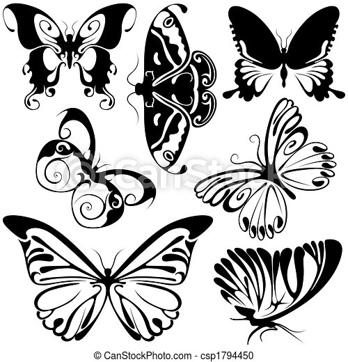 Abstract Butterflies - csp1794450