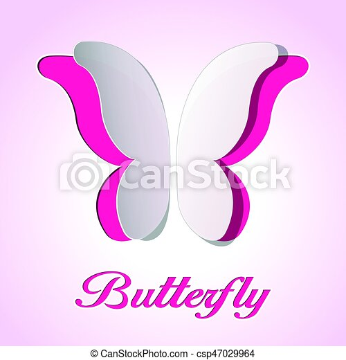 abstract butterfly background - csp47029964