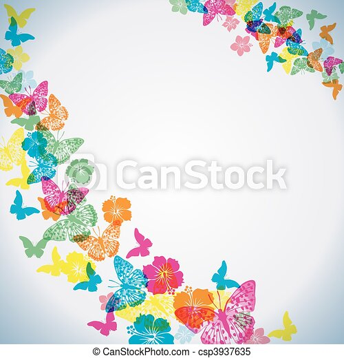 Abstract butterfly background  - csp3937635