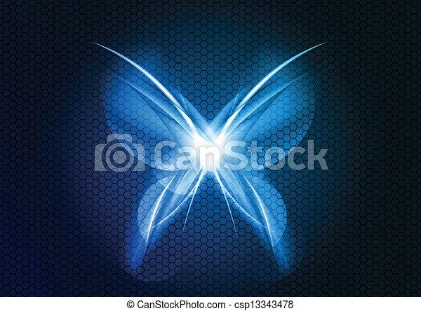 abstract butterfly - csp13343478