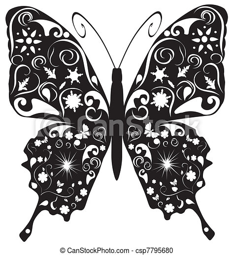 Abstract butterfly - csp7795680