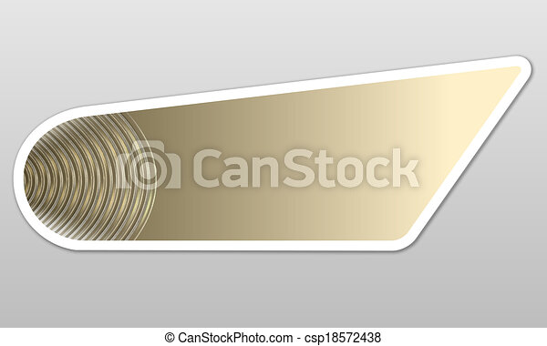 abstract button for text - csp18572438