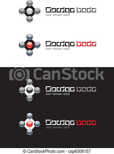 Abstract button. - csp6306157