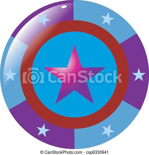 abstract button - csp6330941
