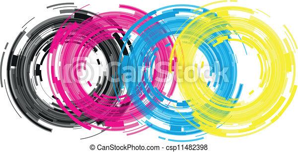 abstract camera lens - csp11482398