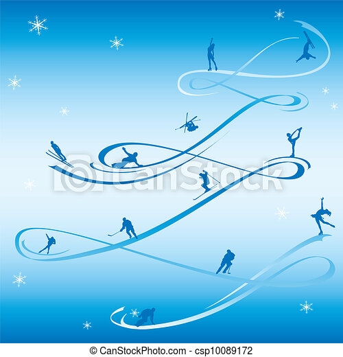 Abstract card to the winter holiday - csp10089172