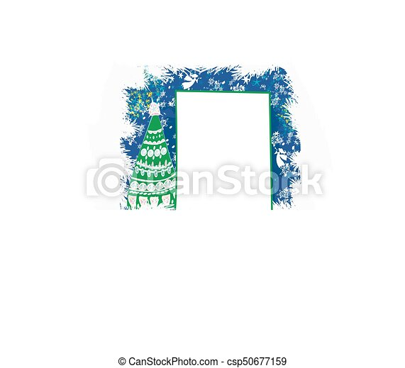Abstract card with Christmas tree - csp50677159