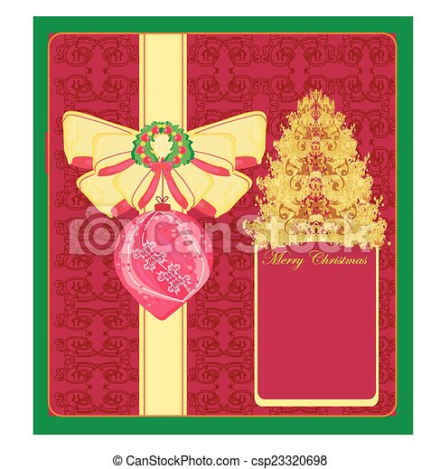 Abstract card with Christmas tree - csp23320698