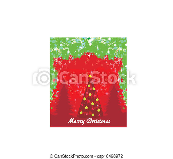 Abstract card with Christmas tree - csp16498972