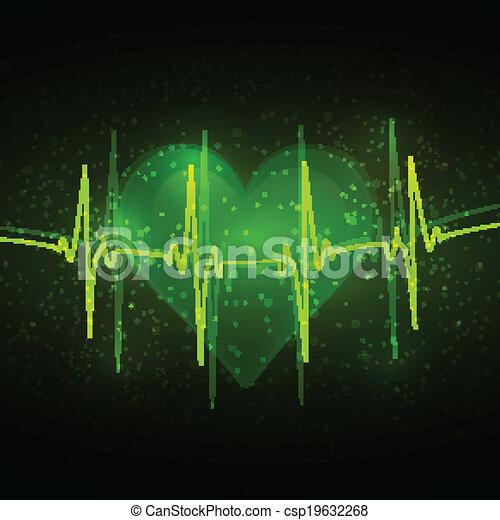 Abstract cardiogram - csp19632268