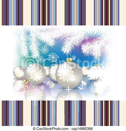 Abstract celebration background with Christmas decorations - csp14980366