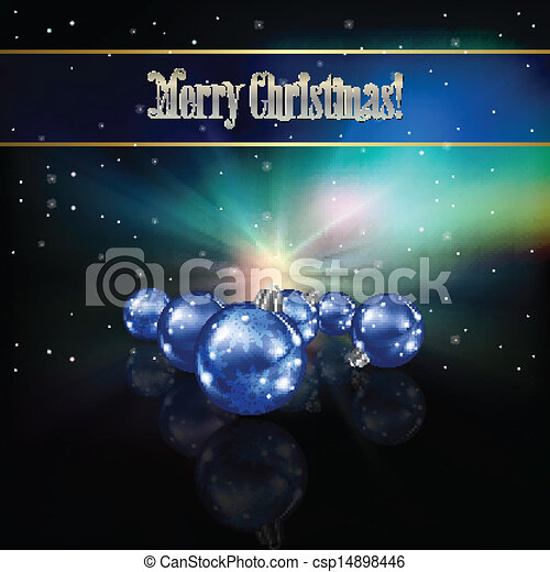 Abstract celebration background with Christmas decorations - csp14898446