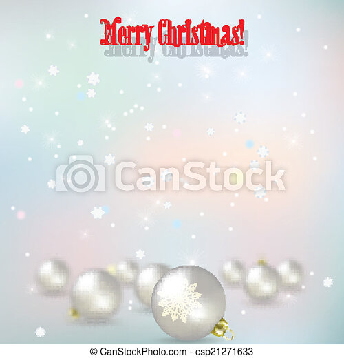 Abstract celebration background with White Christmas decorations - csp21271633
