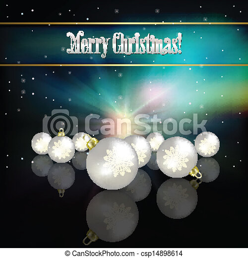 Abstract celebration background with Christmas decorations - csp14898614