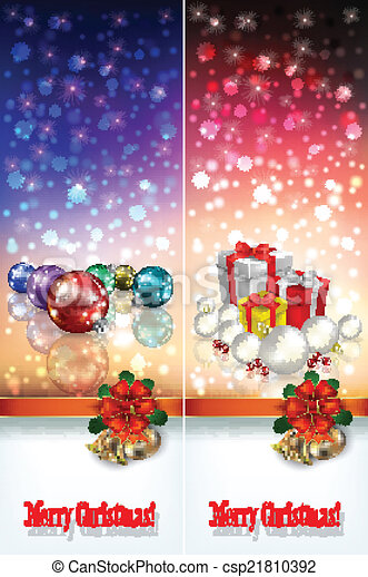 abstract celebration greetings with Christmas illustrative eleme - csp21810392