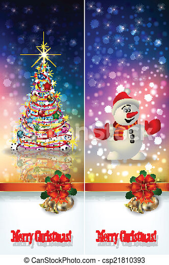 abstract celebration greetings with Christmas illustrative eleme - csp21810393