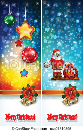 abstract celebration greetings with Christmas illustrative eleme - csp21810395