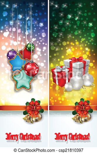 abstract celebration greetings with Christmas illustrative eleme - csp21810397