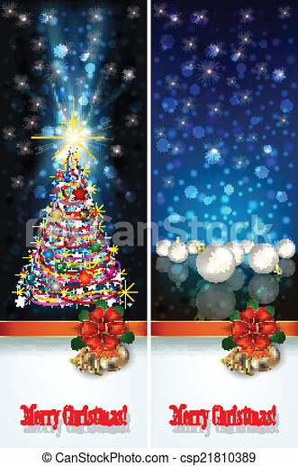 abstract celebration greetings with Christmas illustrative eleme - csp21810389