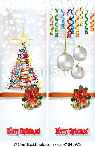 abstract celebration greetings with Christmas illustrative eleme - csp21845972