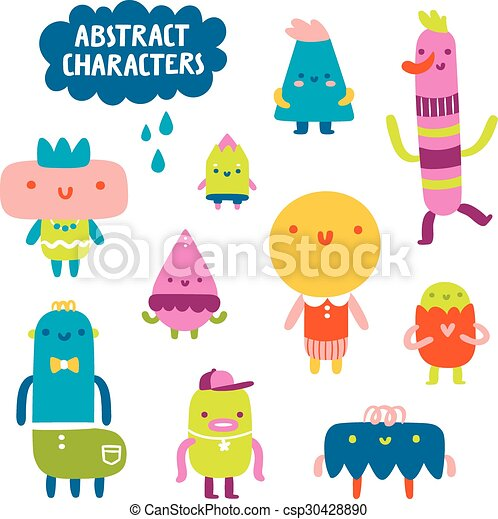 Abstract characters collection - csp30428890