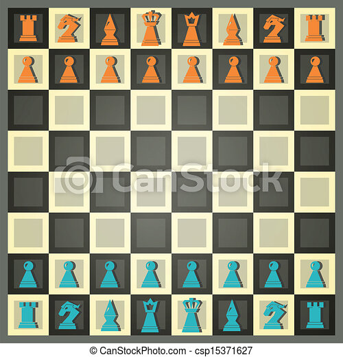 abstract chess - csp15371627