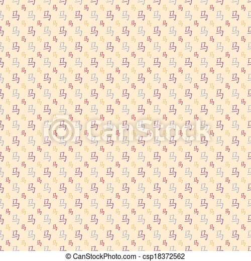 Abstract Chinese Horse Hieroglyph Pattern Wallpaper