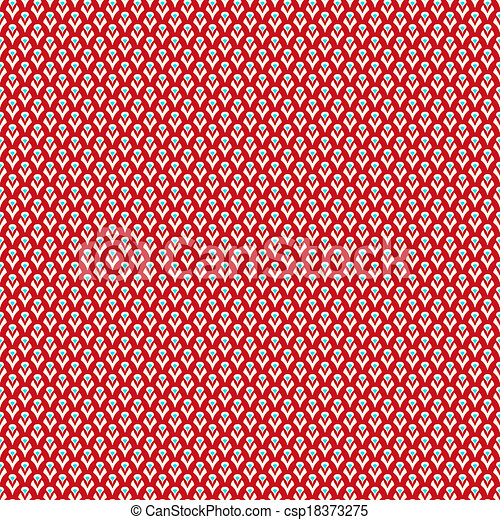 Abstract Chinese Pattern Wallpaper Vector Illustration For Oriental Fashion Design Red White And Blue Bright Colors Seamless Background