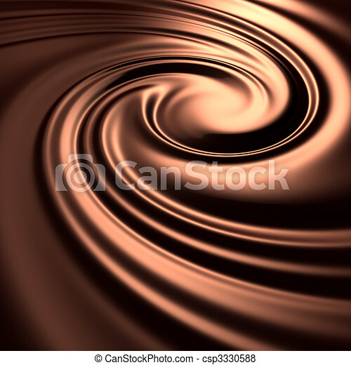 Abstract chocolate swirl background - csp3330588