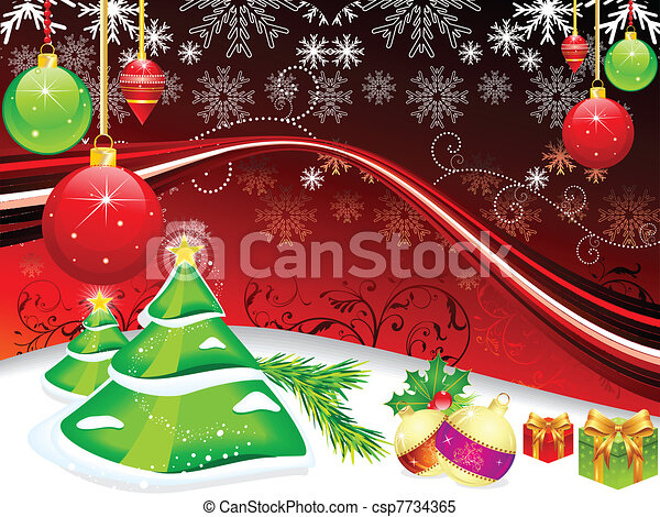abstract christmas background - csp7734365