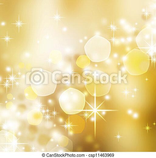 Abstract Christmas background. Holiday bokeh - csp11463969