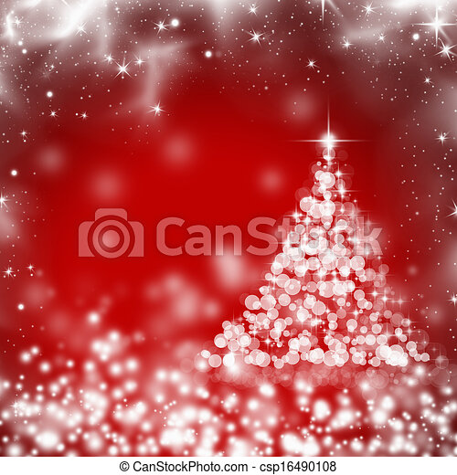 Abstract Christmas background of holiday lights  - csp16490108