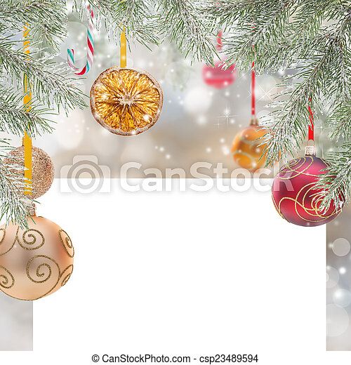 Abstract Christmas background - csp23489594