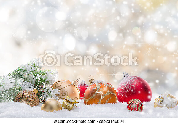 Abstract Christmas background - csp23146804