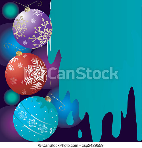 Abstract christmas background with bells (vector) - csp2429559
