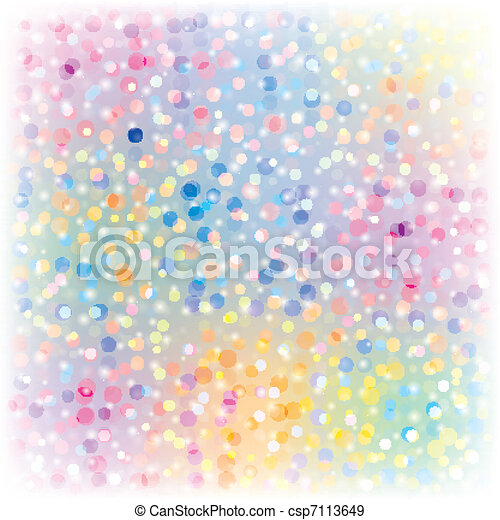 Abstract Christmas background with confetti - csp7113649