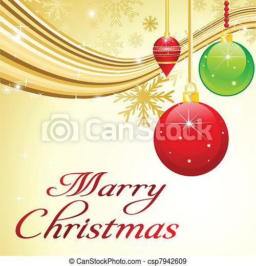 abstract christmas background with - csp7942609