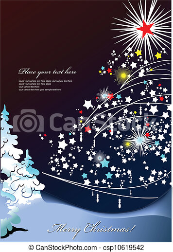 Abstract Christmas background with - csp10619542