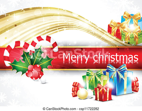 abstract christmas background with - csp11722282