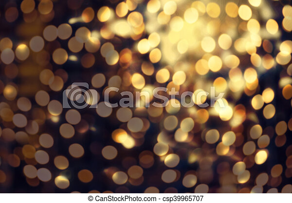 Abstract Christmas Glitter Vintage Lights Background Dark Gold Defocused Wallpaper With Sparkling Bokeh