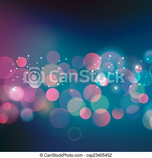 Abstract Christmas light background - csp23405452