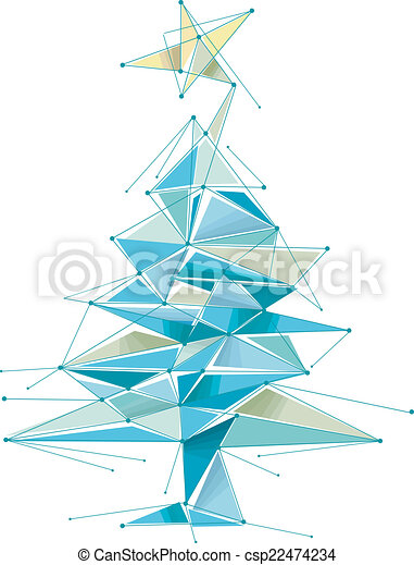 Abstract Christmas Tree - csp22474234