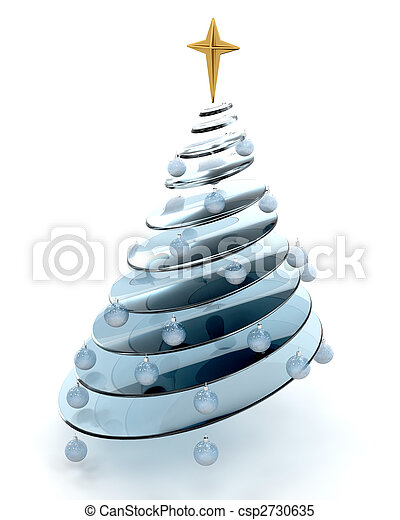 abstract christmas tree - csp2730635