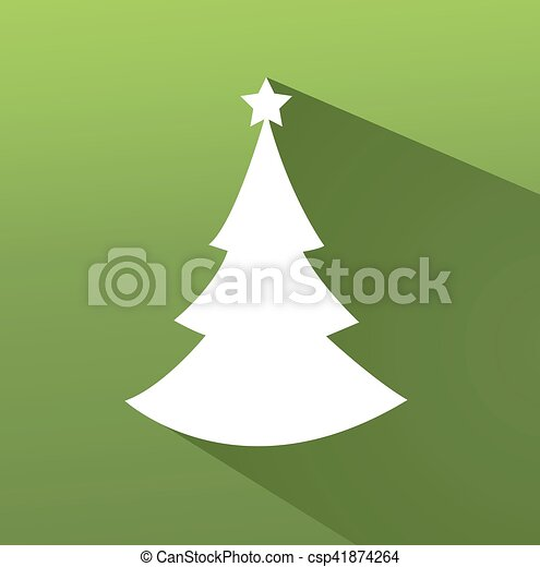 Abstract christmas tree vector illustration with colored background - csp41874264
