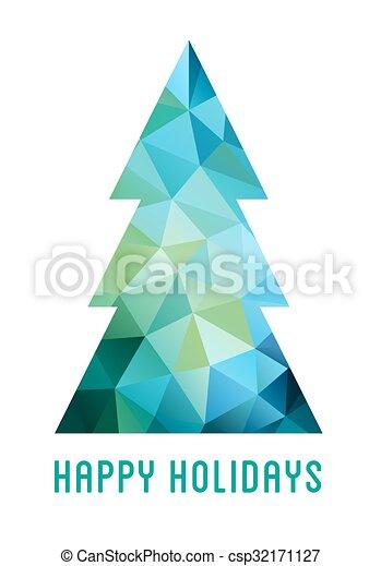 Abstract Christmas tree, vector - csp32171127